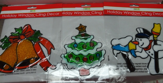Holiday Window Cling Decor